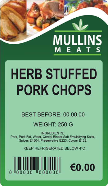 D309-MULLINS-MEATS-Butcher-thermal-print-label-supplier-Ireland