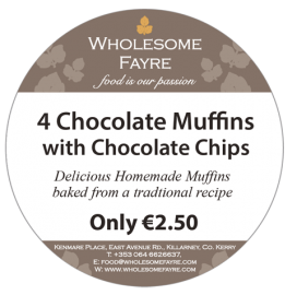 D323-WHOLESOME-FAYRE-01-supermarket-baker-thermal-print-label-supplier-Ireland